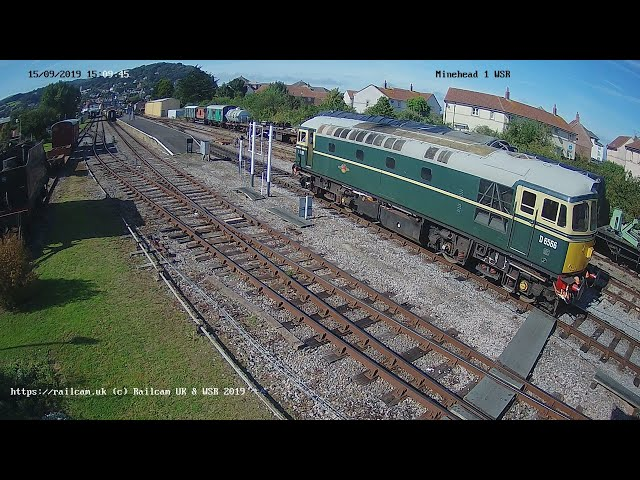 Minehead Station, West Somerset Railway, Somerset UK | RailcamLIVE