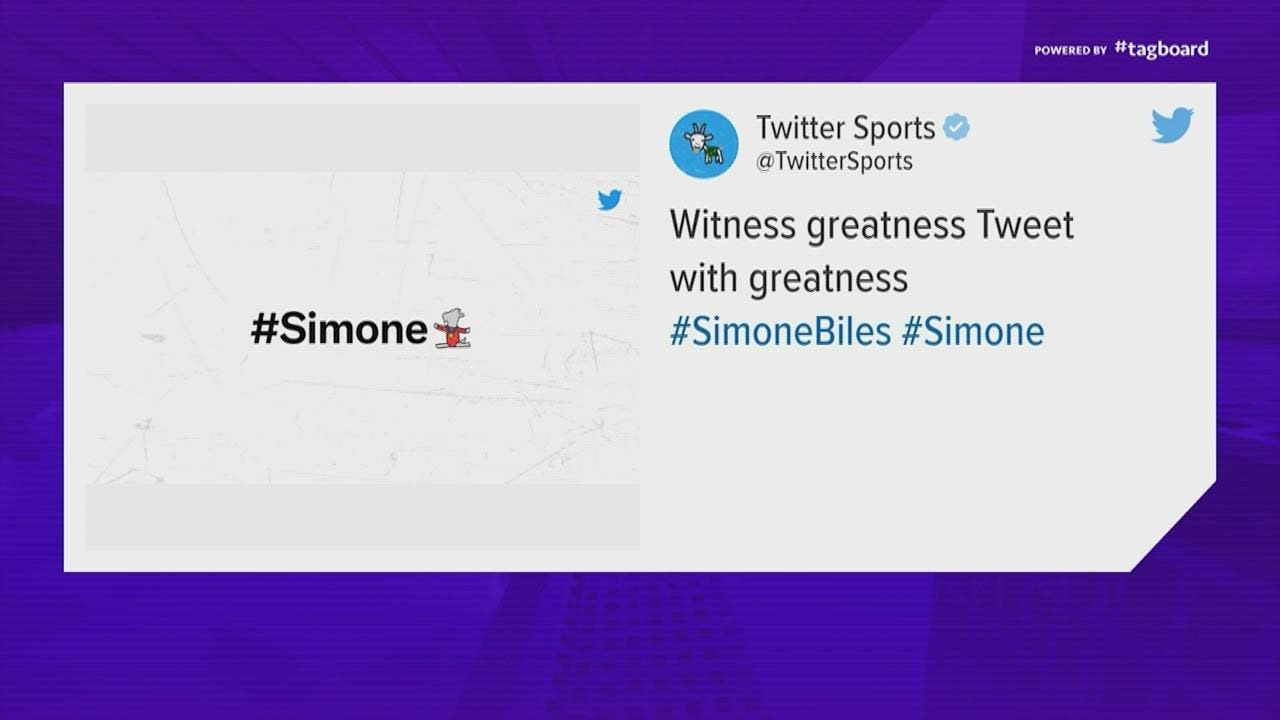 Simone Biles Gets A Twitter Emoji That Fits Her Status: GOAT