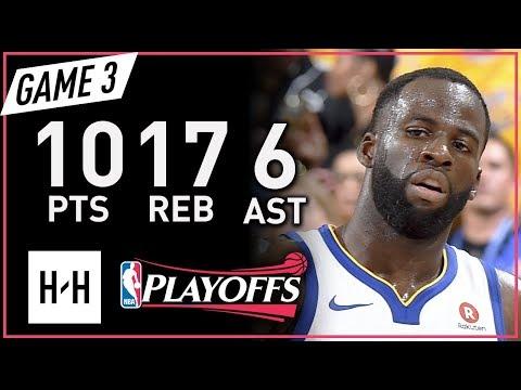 Draymond Green Full Game 3 Highlights vs Rockets 2018 NBA Playoffs WCF - 10 Pts, 17 Reb, 6 Ast!