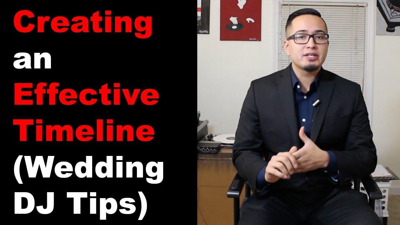 Creating An Effective Timeline Wedding Dj Tips