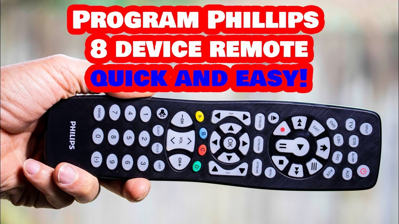 how to program philips remote