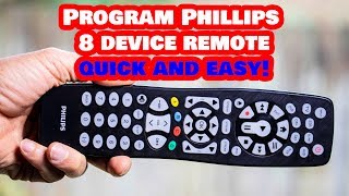 Program THIS Philips 8 Device Universal Remote to ANY Device!