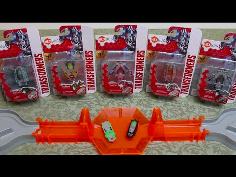 All 6 HexBug Nano Transformers - Detailed Review + 5 Battles Autobots v's Decepticons