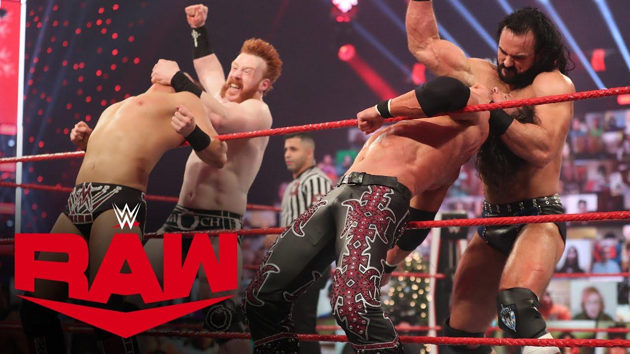 McIntyre, Sheamus & Lee vs. Styles, Miz & Morrison – Holiday Street Fight: Raw, Dec. 21, 2020