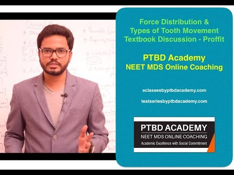 Force Distribution & Types of Tooth Movement - Textbook Discussion - Proffit