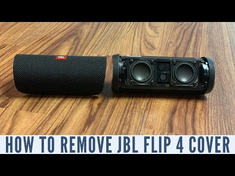 How to Remove JBL Flip 4 Fabric Cover