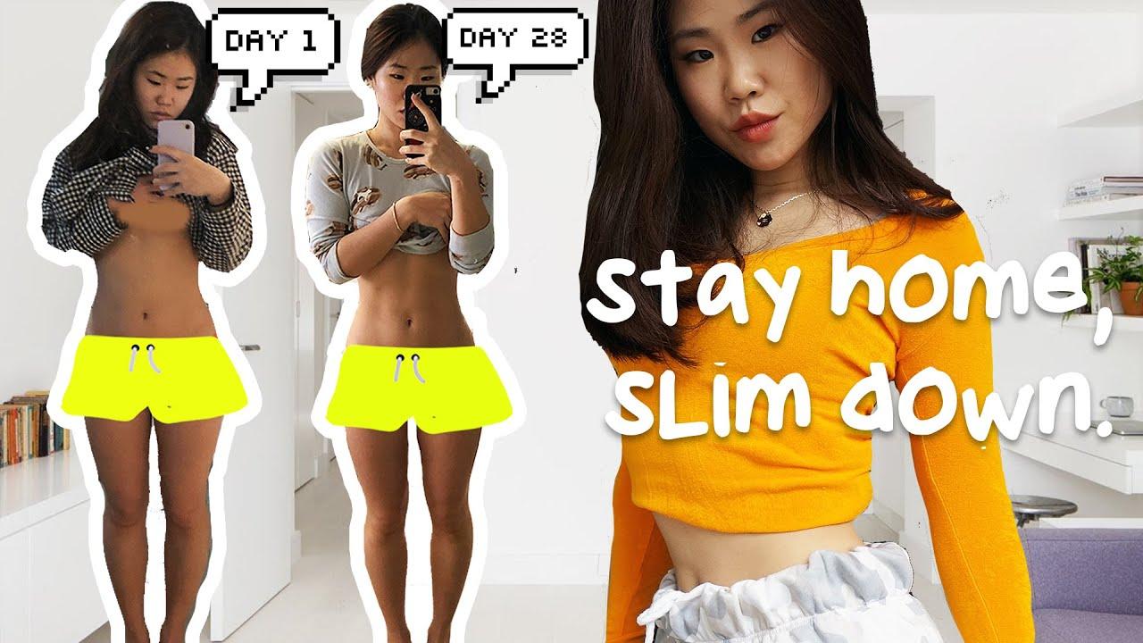 How I Slimmed Down in 1 Month of Staying Home │ Healthy Diet Tips 자취녀의 한달 집콕 다이어트 비법 공개! (en,kr)
