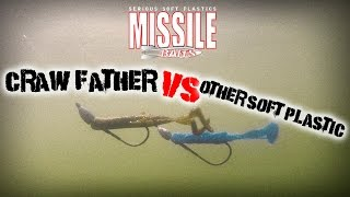 Missile Baits - Craw Father vs. Other Soft Palstic Under Water Test