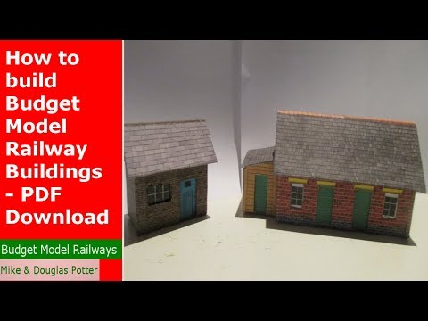 How to build Budget Model Railway Buildings – PDF Download