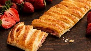 Strawberry Puff Pastry Braid Recipe
