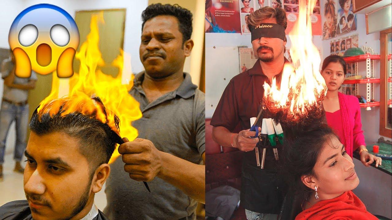 amazing fire haircut hair stylists