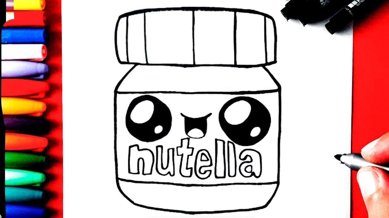 Como Desenhar Nutella Kawaii