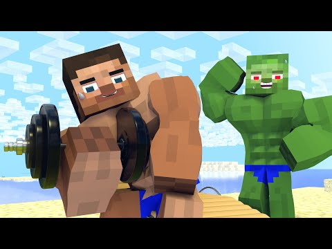 Best Love Story | Muscular Skeleton| Minecraft Animation Life Of Steve & Alex
