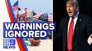 Coronavirus: US Independence Day celebrations warnings ignored   9 News Australia