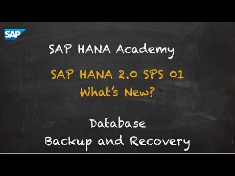 SAP HANA Academy - Database Management: What's New? - Backup and Recovery [2.0 SPS 01]