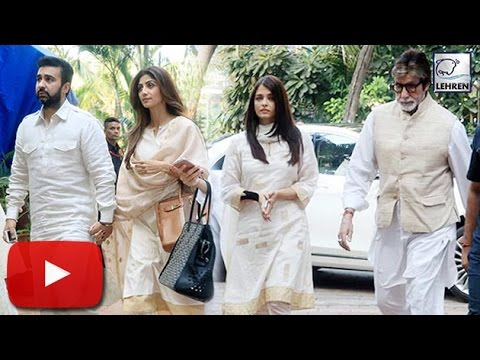 (Video) Shilpa Shetty Father's PRAYER MEET  | Aishwarya Rai |  Amitabh Bachchan | LehrenTV