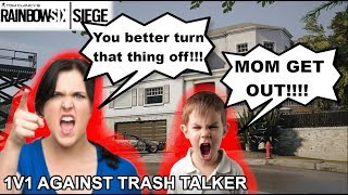 MOM RAGES AT TRASH TALKER DURING A 1V1  - Rainbow Six Siege