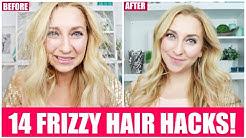14 Ways to Get Rid of Frizzy, Dry, Staticky Hair!   Frizzy Hair Hacks