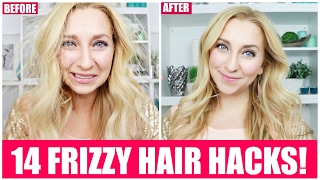 14 Ways to Get Rid of Frizzy, Dry, Staticky Hair! | Frizzy Hair Hacks
