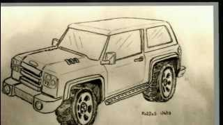 New Ford Bronco Concept Sketch