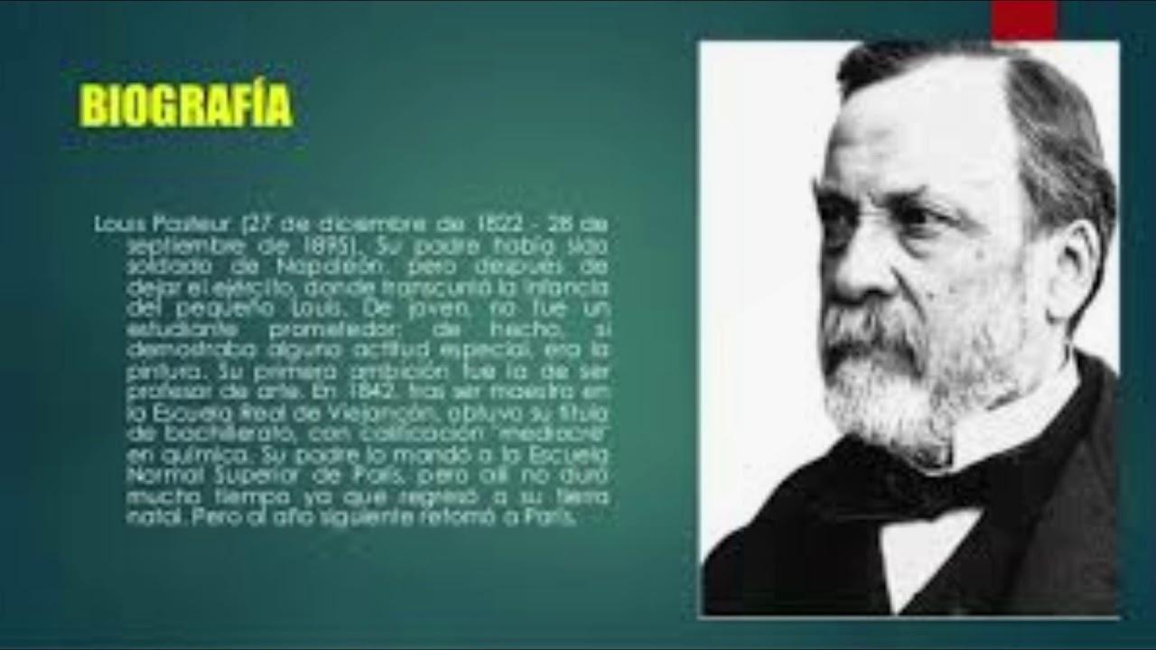Biografia De Louis Pasteur Audio En Resumen Youtube