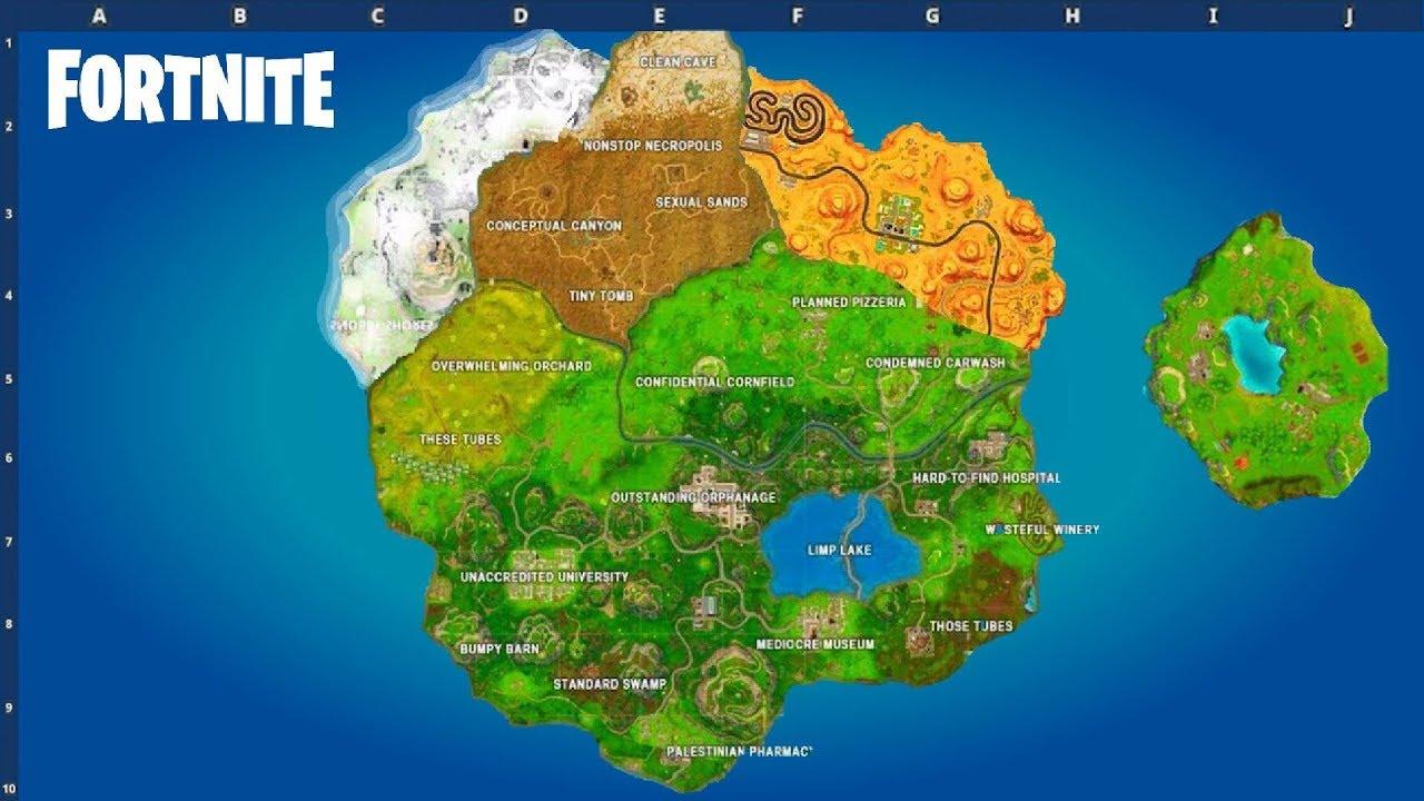 Season 8 Map Fortnite Battle Royale Youtube