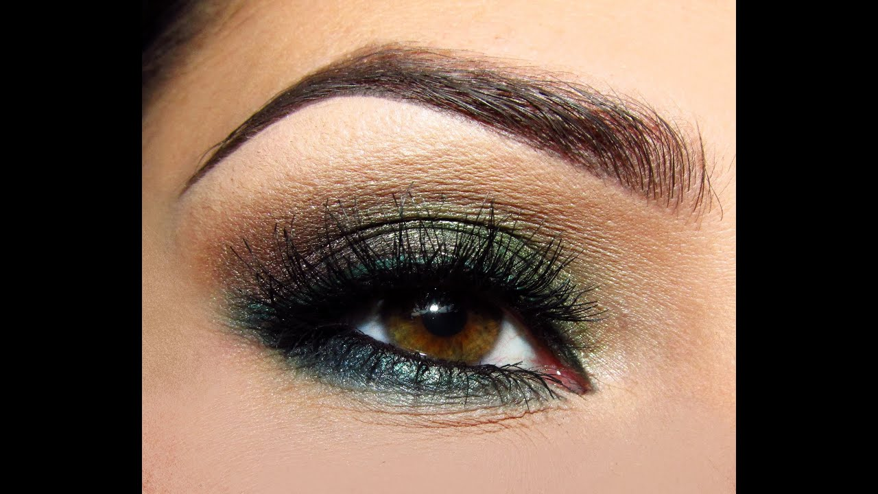 Makijaż Zielono Brązowe Smoky Youtube