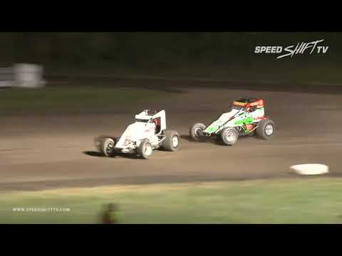 "USAC National Sprint Car ""James Dean Classic"" Highlights 