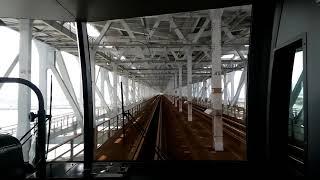 【華麗な瀬戸大橋 でも意外とスピードを出さずに走る快速マリンライナー 児島~坂出 グリーン車】