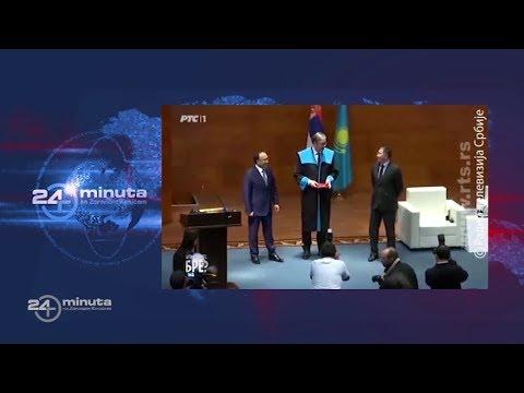 Predsednik Vučić postao počasni profesor u Kazahstanu i podsetio na budalu Peđe D Boja