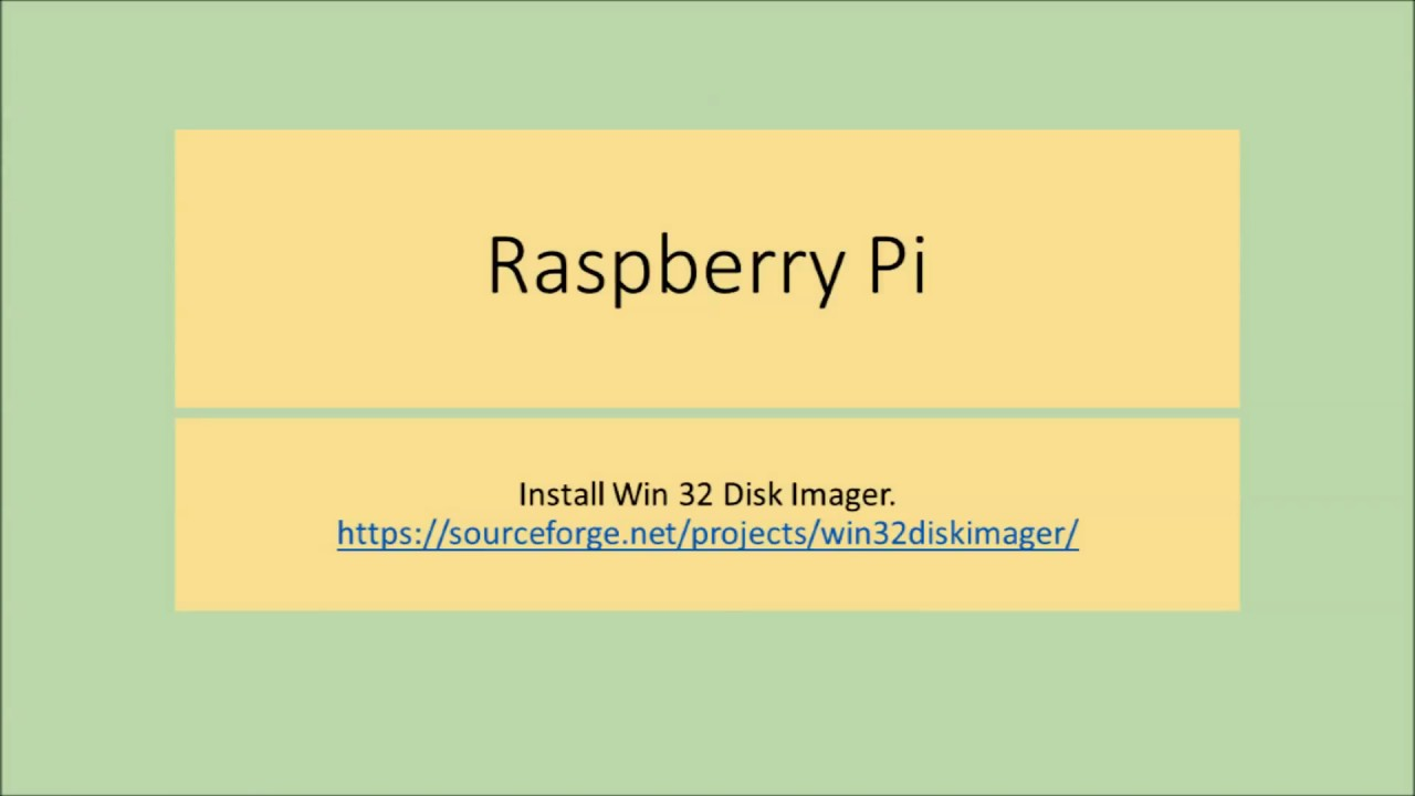 The Internet of Things Install Raspbian Stretch Lite