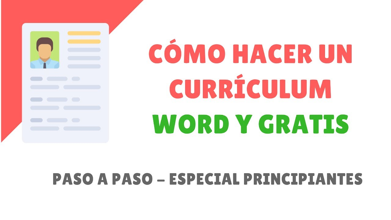 Como Hacer Un Curriculum En Word 2018 Youtube