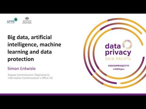 Big data, artificial intelligence, machine learning and data protection