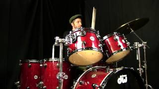 DW Collectors Series Drum Set with Ruby Glass Finish