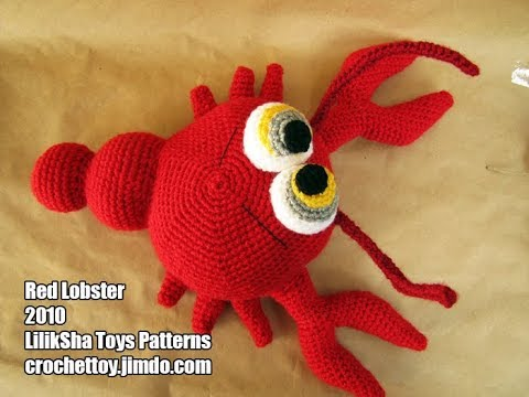 Review Amigurumi Pattern Red Lobster By Liliksha Toys Youtube