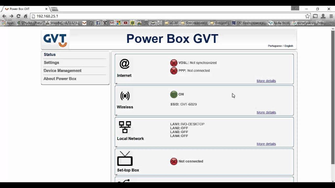 Liberando funções no Sagemcom F@st 2764 PowerBox GVT