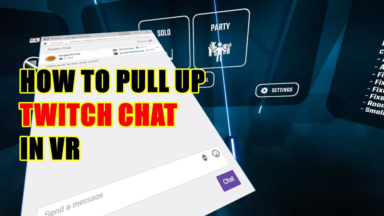 How to get your Twitch chat in VR