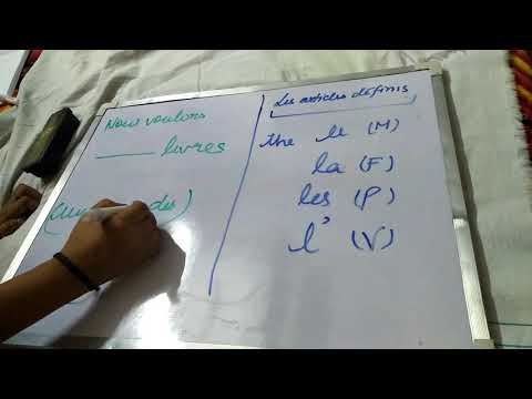 Les articles defini et indefini | Articles definate and indefinate in french| Learn french with me