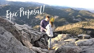 Most Epic Wedding Proposal!! Record Flatirons Climb Boulder, Colorado