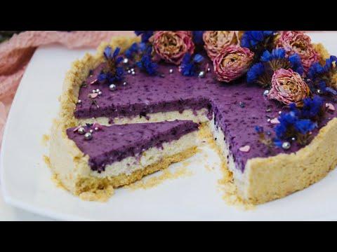 Творожный пирог с черничным муссом. Рецепт простого пирога