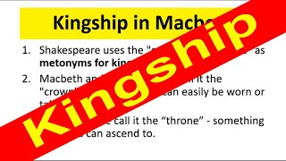 Kingship in Macbeth Revision Cards