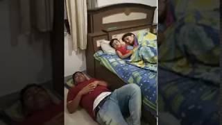 #worldfunnyvideos   papa ko mami ke pass sone ni diya   shararti bacha husband wife funny videos,
