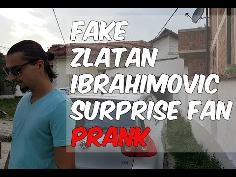 Fake Zlatan Ibrahimovic surprise fan ( PRANK )