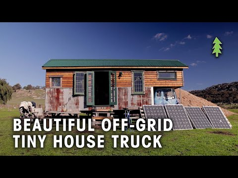 Beautiful Off-Grid Tiny House Truck Made From Reclaimed Materials