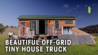 Beautiful Off-grid Tiny House Truck Made From 85% Recycled Materials