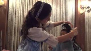 Isabella's Disney princess makeover
