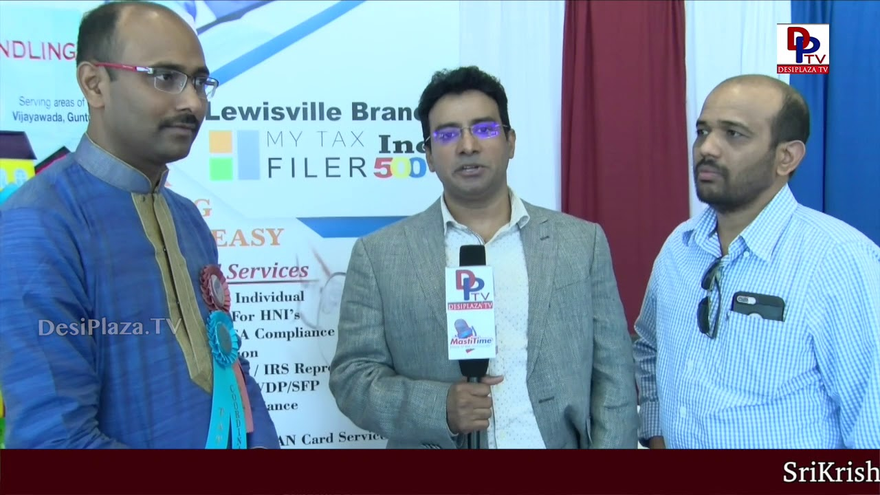 Mytaxfiler Representative Speaking at - America Telugu Convention - Dallas - Texas