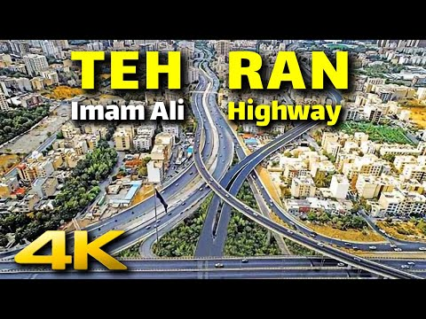TEHRAN 4K - Imam Ali Highway South to North | تهران بزرگراه