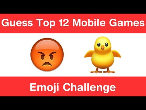 Top 12 Mobile Games Emoji Challenge!!! Guess Pubg | Candy Crush | Fruit Ninja etc.