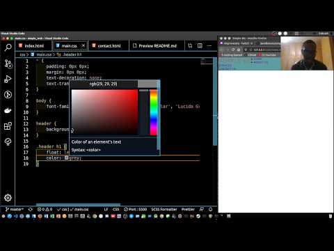 Web Dev: Creating A Simple Website HTML And CSS- Live Stream